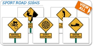 Sport Road Signs T-shirts and Gifts