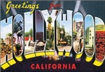 Hollywood Vintage Postcard