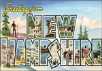 New Hampshire Vintage Postcard