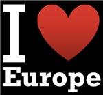 I Love Europe Dark Tee