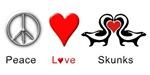 Peace Love Skunks