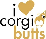 I Heart Corgi Butts - Fawn Pembroke