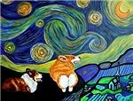 Corgi Starry Starry Night