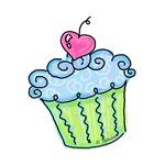 Cherry Cupcake (blue)
