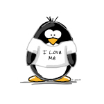 I Love Me penguin