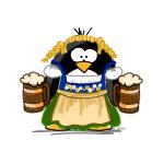 Oktoberfest Girl Penguin