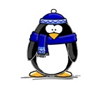 Blue Scarf Penguin