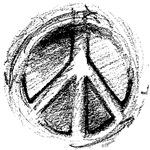 Grunge Urban Peace Sign Sketch