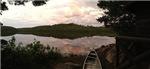 Lake at Sunset (with Canoe)