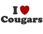 I LOVE COUGARS SHIRT I LOVE SEXY OLDER WOMEN HOT O