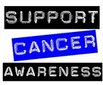 Support Cancer Awareness T-Shirts &amp; Gifts (Blue)