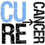 Cure (Prostate) Cancer Grunge Gear, Shirts &amp; Gifts