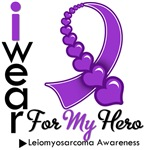 Leiomyosarcoma Hero Ribbon Shirts & Gifts