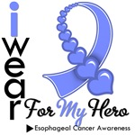Esophageal Cancer Hero Ribbon Shirts & Gifts