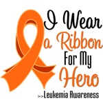 I Wear a Ribbon For My Hero Leukemia Shirts
