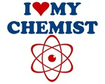 I love my chemist tshirt is the perfect gift for the chemist lover in your.  Whether you yourself is a chemistry geek or just a chemist wanna-be, this design is the gift to get.