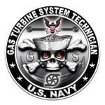 USN Gas Turbine System Technician Skull GS