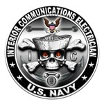 USN Interior Communications Electrician Skull IC