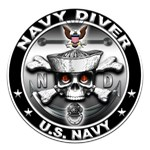 USN Navy Diver Skull ND