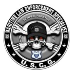 USCG Maritime Law Enforcement Specialist Skull ME