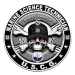 USCG Marine Science Technician Skull MST