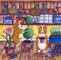 Corgi Potting Shed