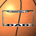 Basketball Chrome Steel License Plate Frames