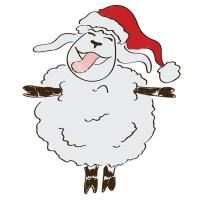 Cute Snowflake Christmas Sheep