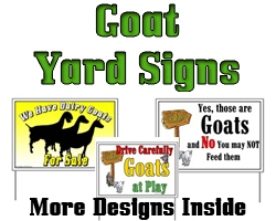 Goat yard signs to advertise goats for sale, or just for fun