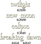 Twilight Saga Movie Dates