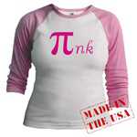 Pink is my favorite color..if you love Pi and you love pink, this design is a must have!  Only for the true math geek who loves pink.