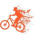 Biker splash light red