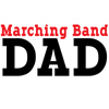 Marching Band Dad - red
