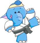 Lil Blue Elephant Karate