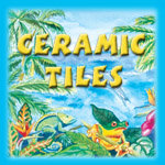 Caribbean Colors Art Tiles & Jewelry Boxes