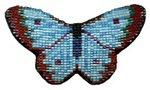 Hand-Beaded Butterfly