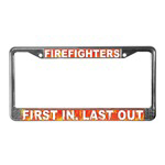 Firefighter License Plate Frames