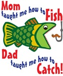 Dad Mom Fishing