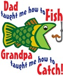 Dad Grandpa Fishing