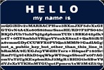Hello, my name is encrypted.