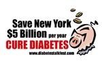 Save NY $5 billion per year...Cure diabetes!