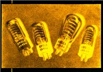 Glowing Flash Vacuum Tubes