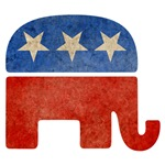 Faded Republican Logo