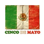 Vintage Cinco De Mayo with Flag