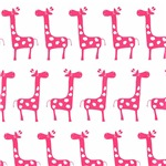 Little Hot Pink Giraffes