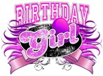 Pink Ribbon Birthday Girl