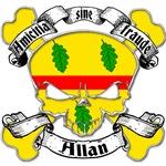 Allan Family Crest Skull