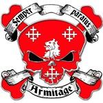 Armitage Family Crest Skull