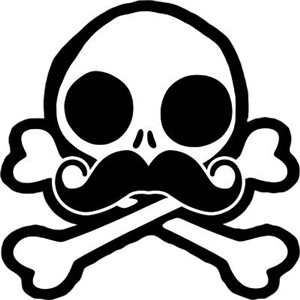Cute Skull With Moustache