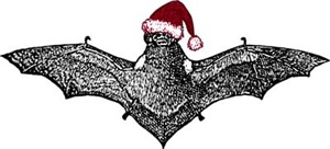 Bat In A Santa Hat
